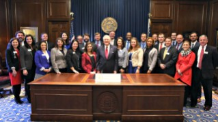 2017 AGL cohort with Gov. Nathan Deal
